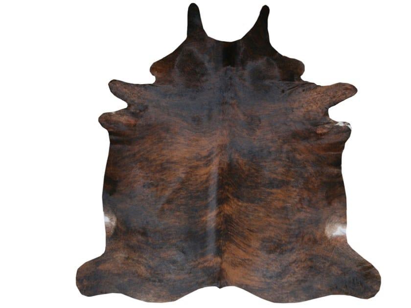 Handmade cowhide rug NATURAL DARK EXOTIC by EBRU