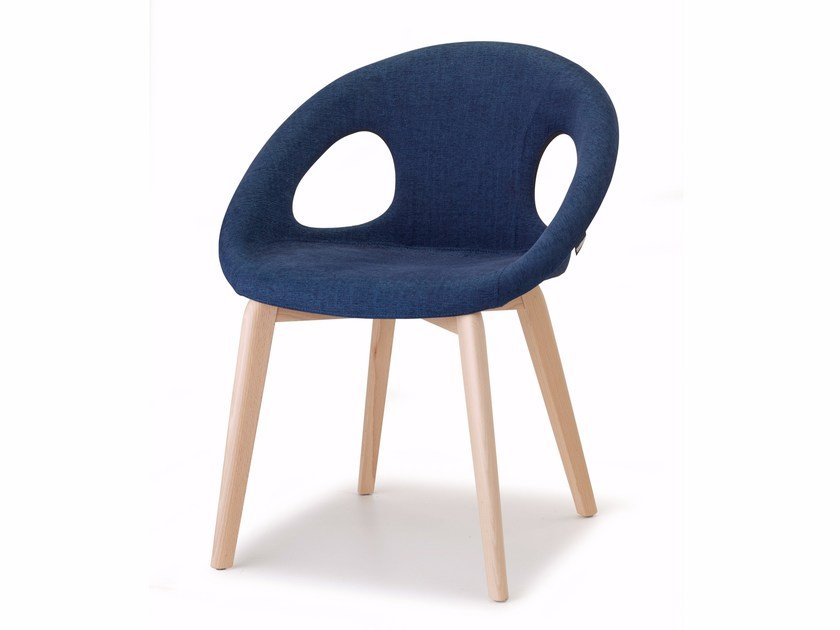Upholstered fabric chair NATURAL DROP POP | Chair by SCAB DESIGN