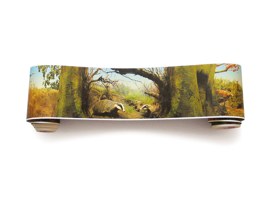 Adhesive panoramic landscape wallpaper NATURAL HISTORY PANORAMA by EXTRATAPETE