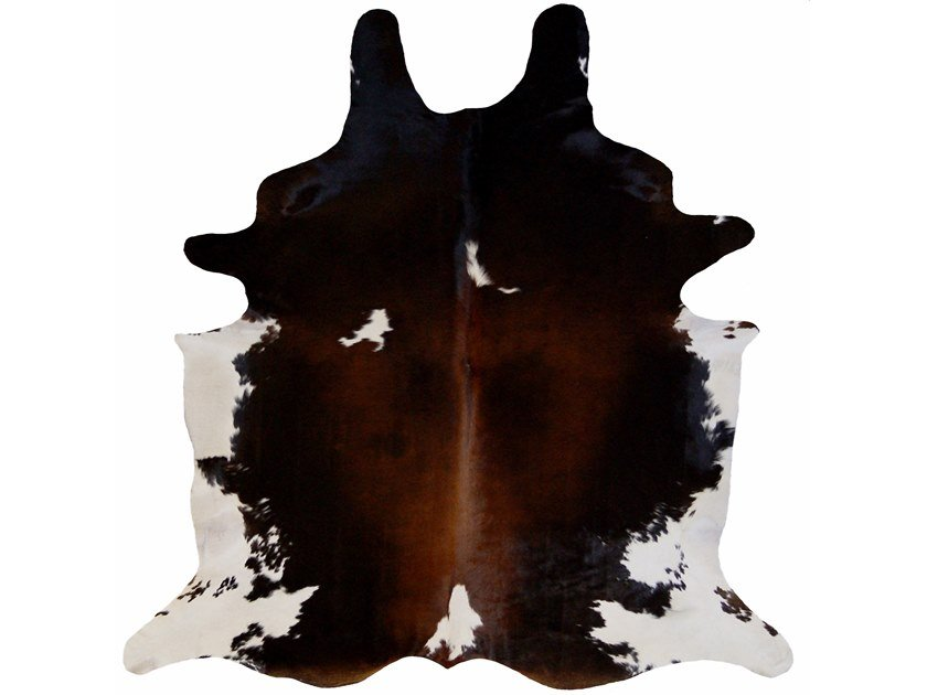 Handmade cowhide rug NATURAL TRICOLOR by EBRU