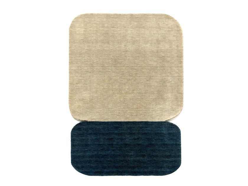 Handmade wool rug NATURALEZA BEIGE BLUE by Tacto