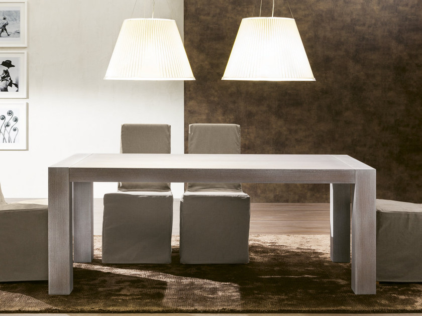 Extending rectangular table NATURE by Pacini & Cappellini