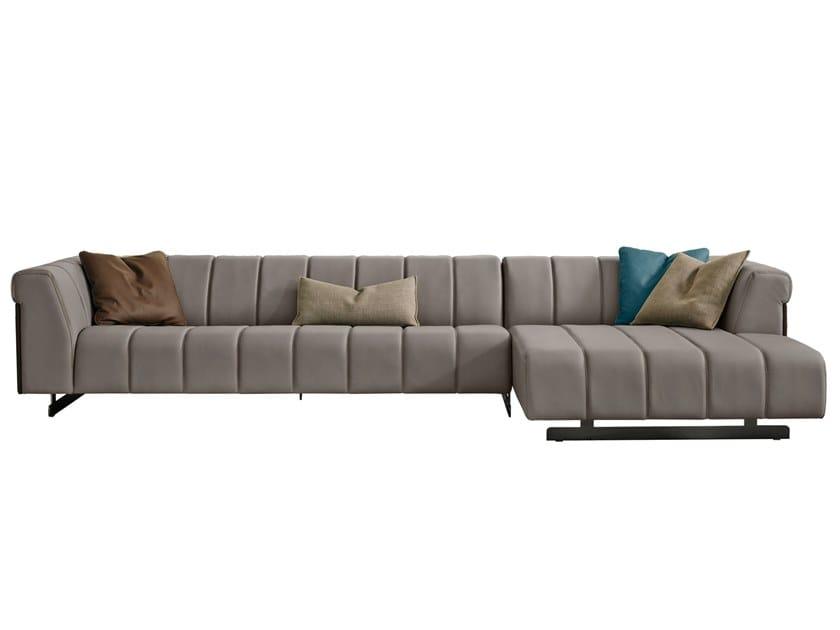 Sectional leather sofa NAUTILUS by Gamma Arredamenti