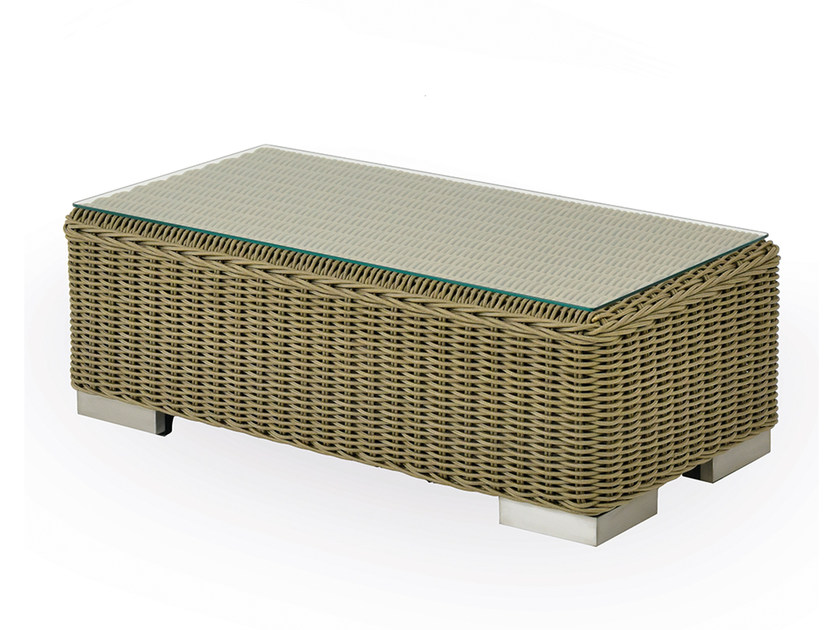 Low rectangular garden side table NAUTILUS | Rectangular coffee table by INDIAN OCEAN