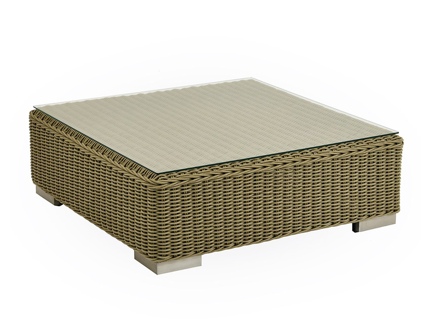 Low square garden side table NAUTILUS | Square coffee table by INDIAN OCEAN