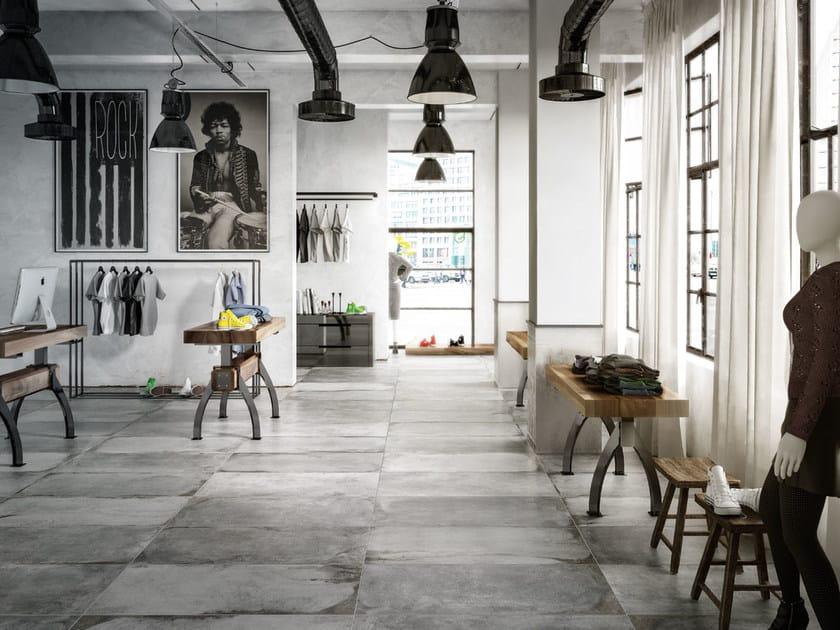 Porcelain stoneware flooring with stone effect LASCAUX NAXA SHOP by La Fabbrica