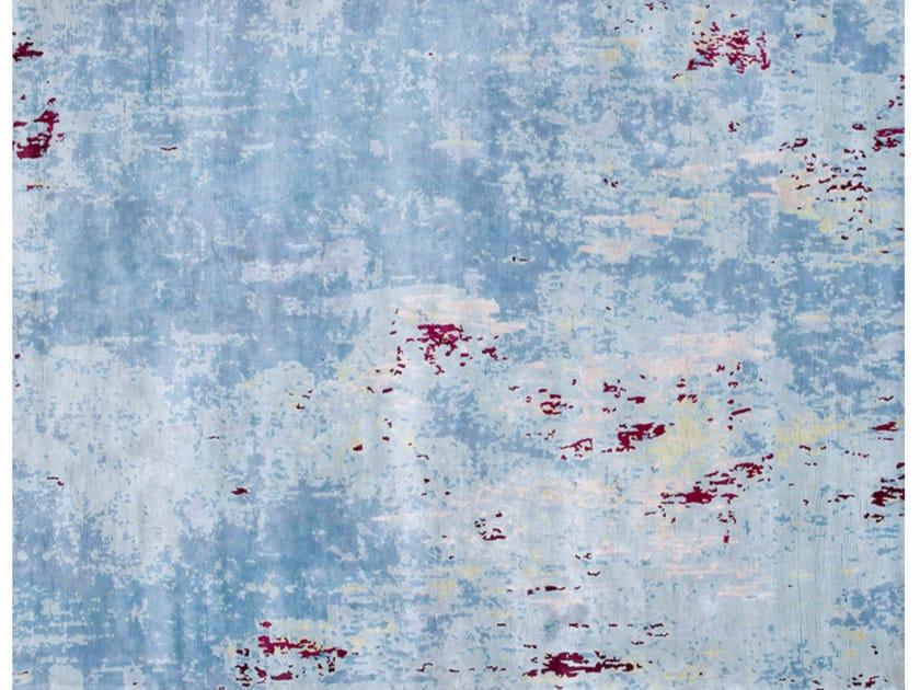 Patterned handmade rectangular rug NEBULA HORIZON by EDITION BOUGAINVILLE