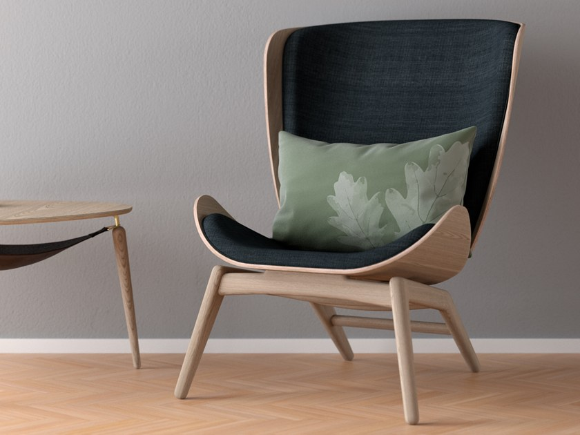 Rectangular velour fabric cushion with floral pattern NEED A HUG | Rectangular cushion by VITA copenhagen