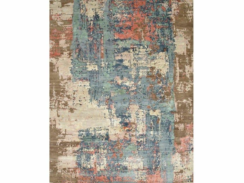Patterned rug NEEV ESK-439 Antique White/Pearl Blue by Jaipur Rugs
