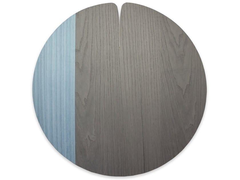 Tovaglietta rotonda in legno NELUMBO COLD BLUE BRASS | Tovaglietta by LIGNIS®
