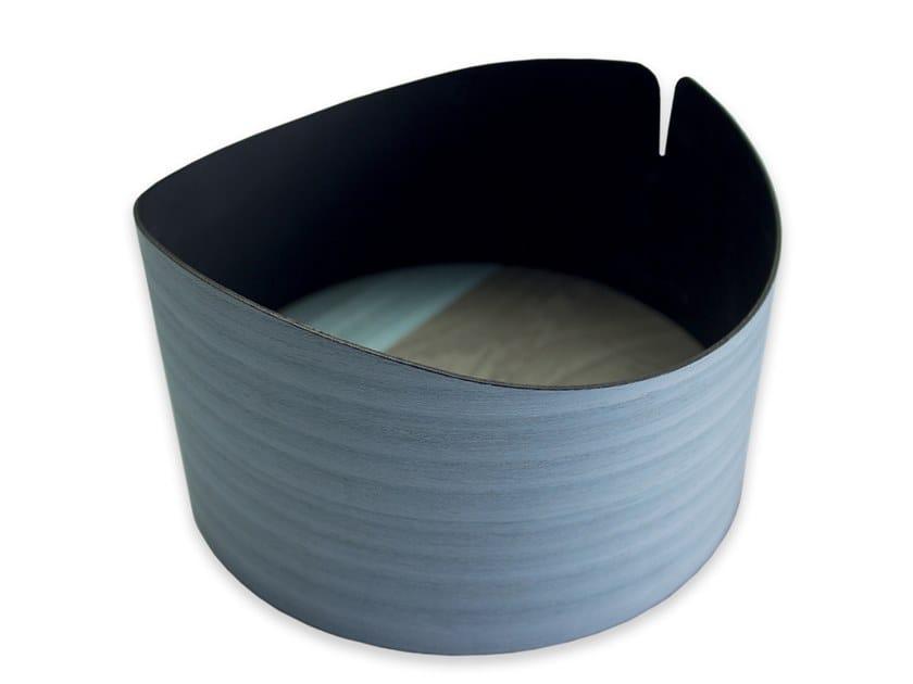 Contenitore in legno NELUMBO COLD BLUE BRASS | Contenitore by LIGNIS®