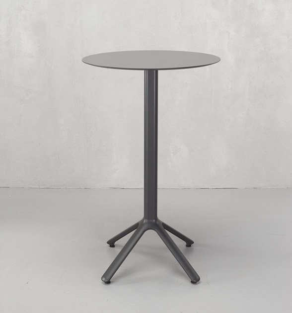 Round Aluminium High Table Nemo By Scab Design