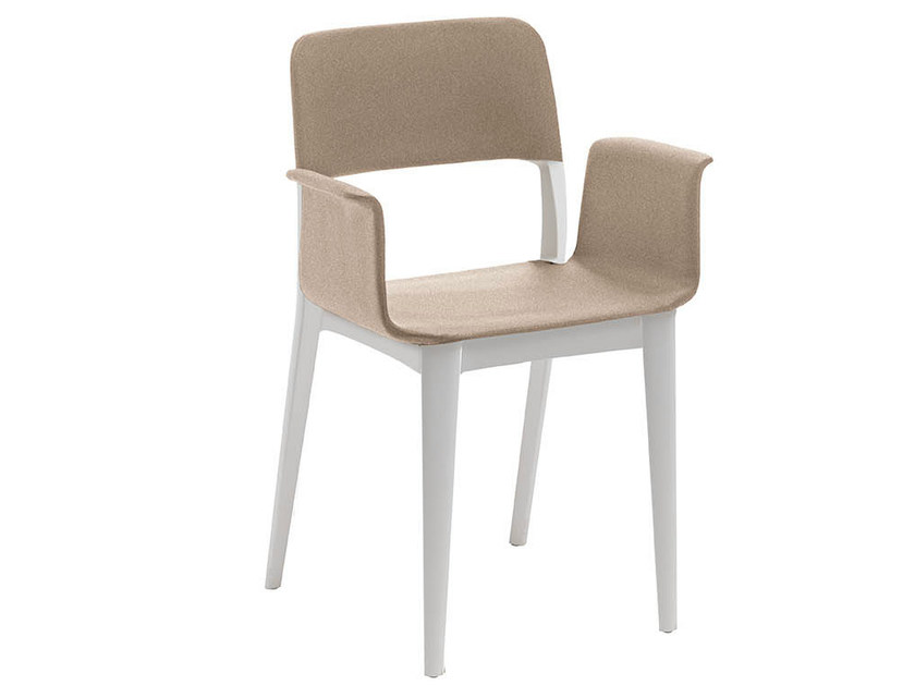 Fabric chair with armrests NENÉ PR | Fabric chair by Midj