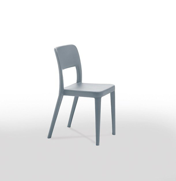 Contemporary Style Upholstered Leather Restaurant Chair NENÈ SR CF | Open  Back Chair By Midj