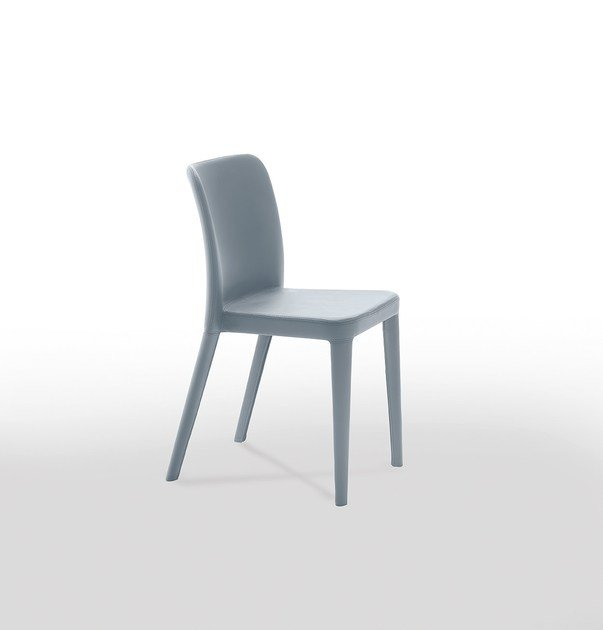 Contemporary style upholstered leather restaurant chair NENÈ SR-SF | Restaurant chair by Midj