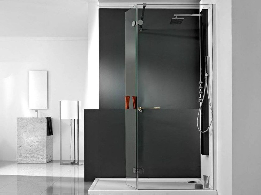 Glass shower wall panel NEO 10 by Systempool