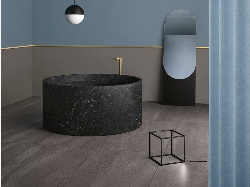 Porcelain stoneware wall/floor tiles with stone effect NEO ANTHRACITE by GranitiFiandre