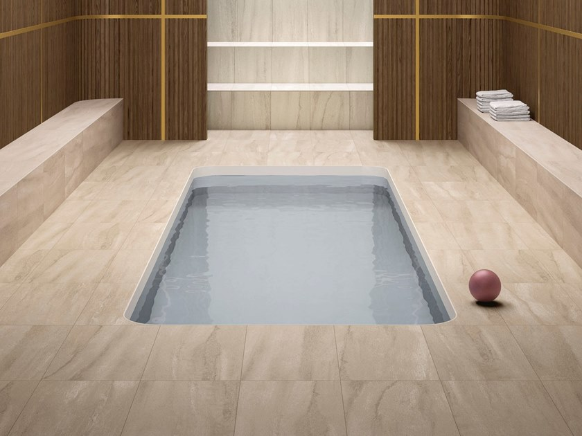 Porcelain stoneware wall/floor tiles with stone effect NEO BEIGE by GranitiFiandre