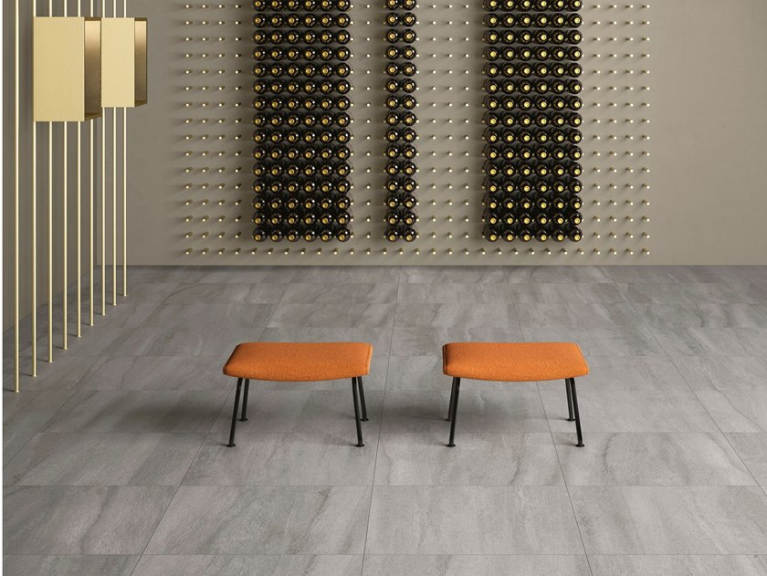 Porcelain stoneware wall/floor tiles with stone effect NEO GREY by GranitiFiandre