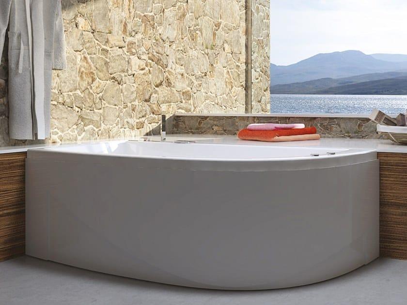 Asymmetric whirlpool acrylic bathtub NEO by Relax Design