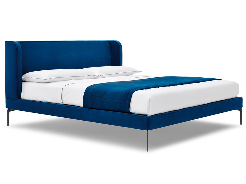Upholstered double bed NEOCON by Silenia