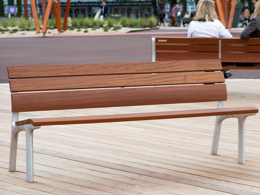 Panchina in legno con schienale NEOROMÁNTICO CLASICO | Panchina con schienale by URBIDERMIS
