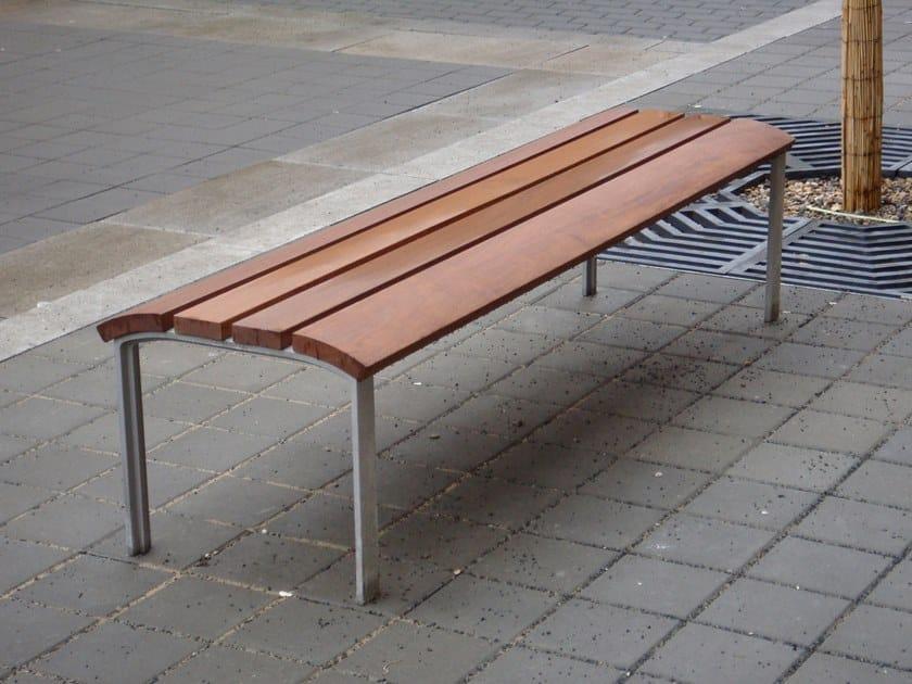 Panchina in legno senza schienale NEOROMÁNTICO LIVIANO | Panchina senza schienale by URBIDERMIS