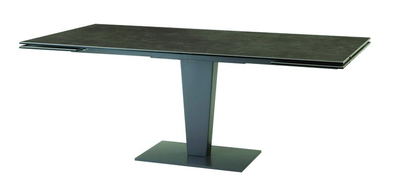 Extending rectangular glass and aluminium dining table NEPHTIS By ...
