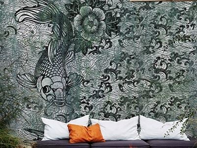 Outdoor wallpaper NERO DI CHINA by Wall&decò