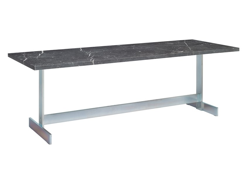 Rectangular Nero Marquina marble coffee table LAZLO | Nero Marquina marble coffee table by e15