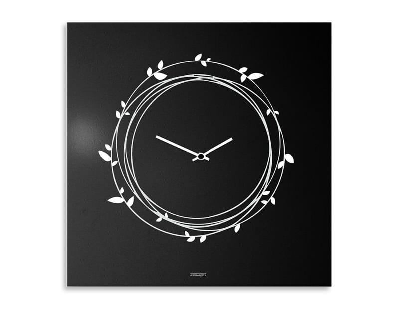 Wall-mounted plate clock NEST by Designobject.it