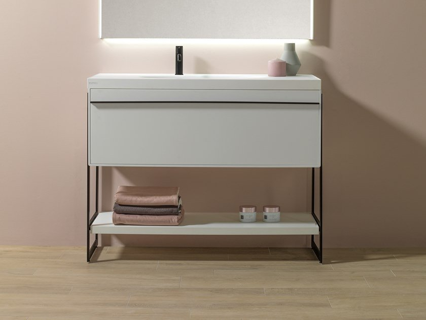 Floor-standing single vanity unit NEST by Systempool