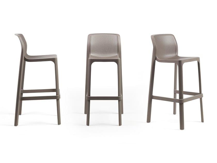 High garden stool with back NET STOOL by Nardi