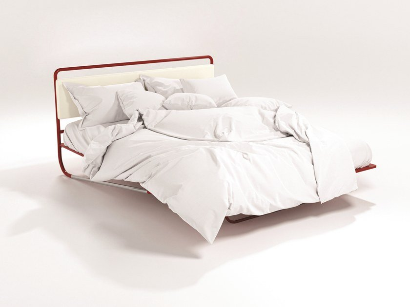 Bed with upholstered headboard NETTUNO by Barel