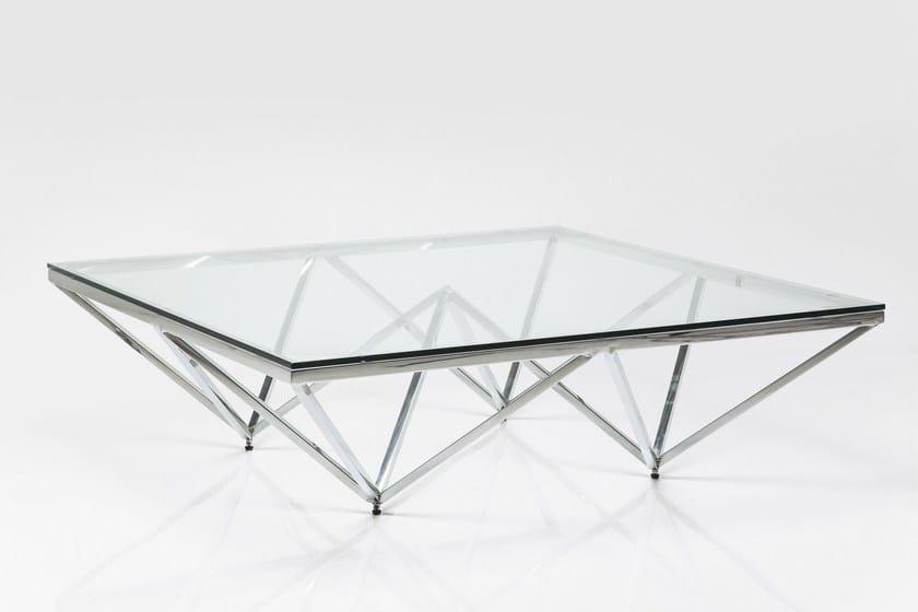 Rechteckiger couchtisch aus edelstahl und glas network by for Design couchtisch edelstahl glas