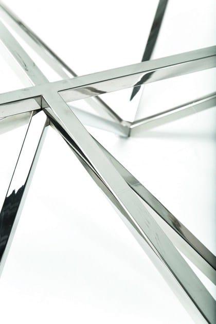 Tavolino In Inox E Kare Rettangolare Acciaio Vetro design Network cA4j5RS3Lq