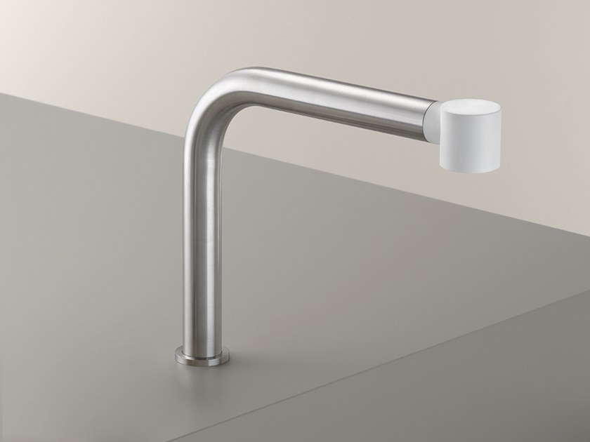 Deck-mounted stainless steel spout NEU 45 by Ceadesign