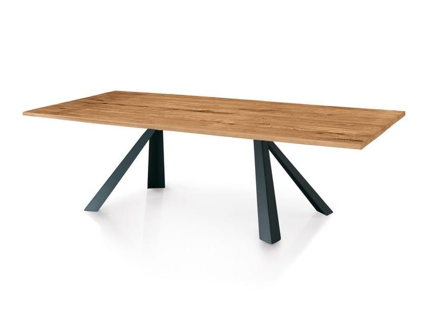 Rectangular oak table NEVADA WILD by Oliver B.