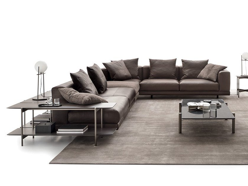 Corner Leather Sofa Nevyll Low By Ditre Italia