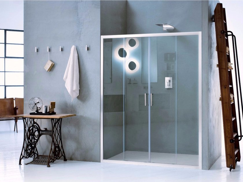 Niche glass shower cabin with sliding door NEW CLAIRE - 3 by INDA®