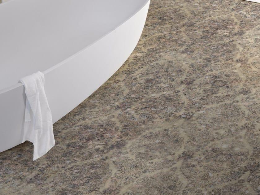 Damask stone effect floor wallpaper NEW DAMASCO by Inkiostro Bianco