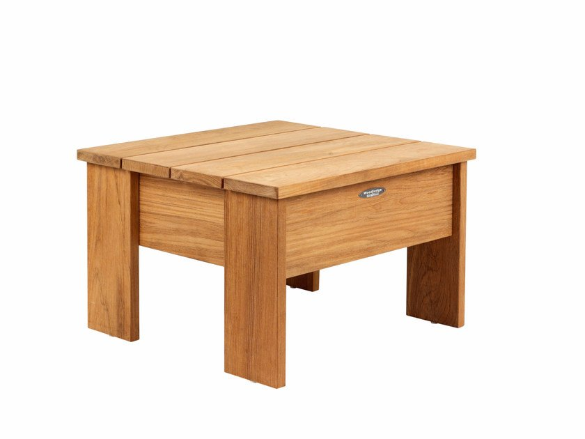 Low teak garden side table with storage space NEW ENGLAND | Teak coffee table by ROYAL BOTANIA