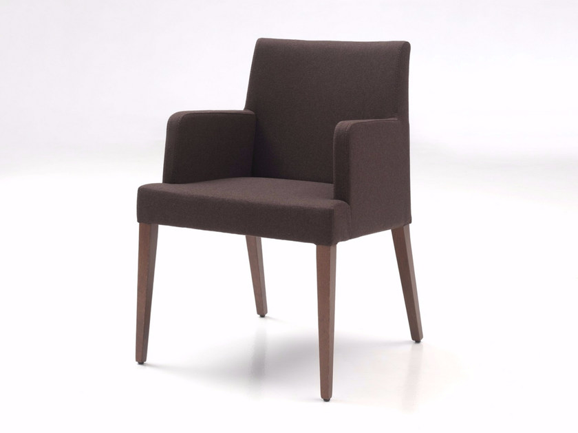 Upholstered leather easy chair with armrests NEW GALA LOUNGE by Z-Editions