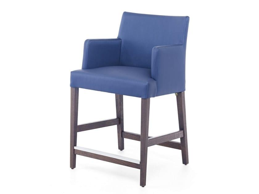 Sedia in pelle con braccioli con poggiapiedi NEW GALA LOUNGE KL 62 by Z-Editions