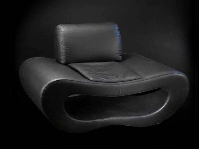 Leather armchair NEW LIPS | Armchair by VGnewtrend