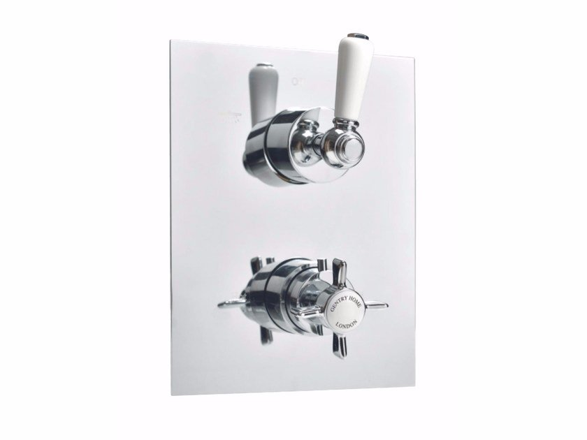 Thermostatic shower mixer with plate NEW ROYAL | Thermostatic shower mixer with plate by GENTRY HOME