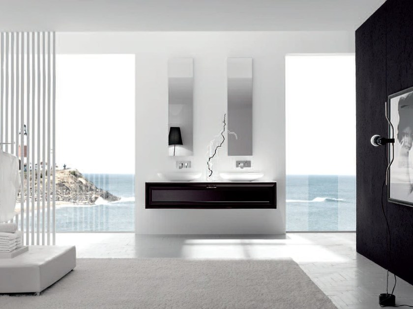 Double lacquered vanity unit NEW STYLE - COMPOSITION 3 by Arcom