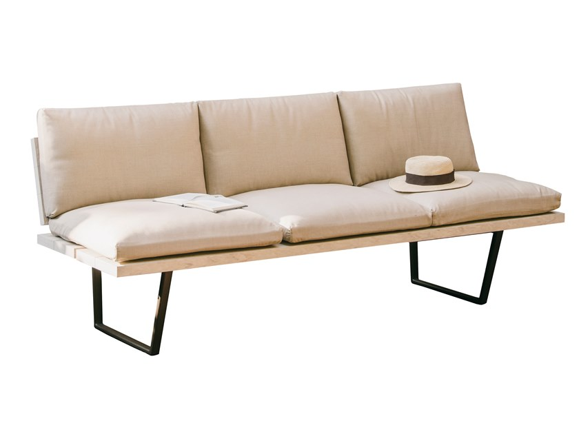 Composite material garden bench NEW-WOOD PLAN | Fabric garden bench by FAST