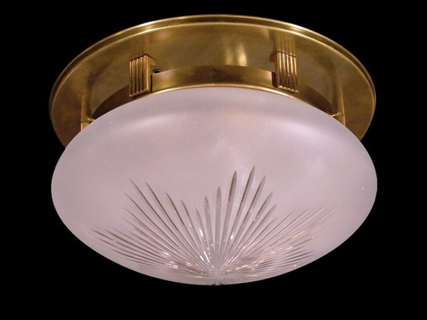 Plafoniera a luce diretta fatta a mano in ottone NEW YORK II | Plafoniera by Patinas Lighting