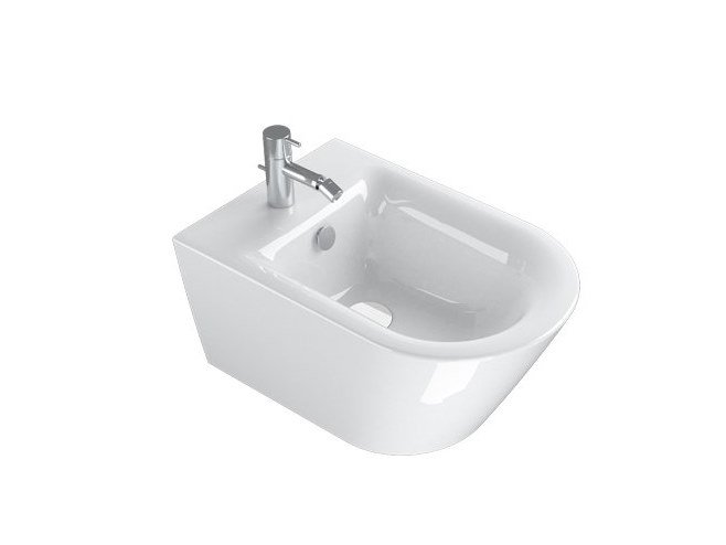 Wall-hung bidet NEW ZERO | Wall-hung bidet by CERAMICA CATALANO